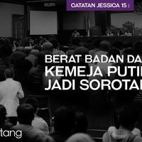 Catatan Jessica 15: Berat Badan dan Kemeja Putih Jadi Sorotan (Digital Imaging by Nurman Abdul Hakim/Bintang.com)