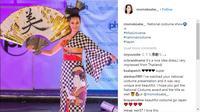 Konsep unik sukses membuat Miss Jepang sabet gelar Best National Costume Miss Universe 2017 (Foto: Instagram/ @Mamokoabe)