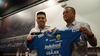 Bek tengah Fabiano Beltrame resmi perkuat Persib Bsndung. (Huyogo Simbolon)