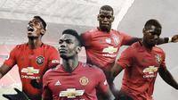 Gelandang Manchester United: Paul Pogba. (Bola.com/Dody Iryawan)