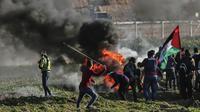 Seorang remaja asal Palestina berusia 15 tahun tewas dalam bentrokan di jalur Gaza (AFP)