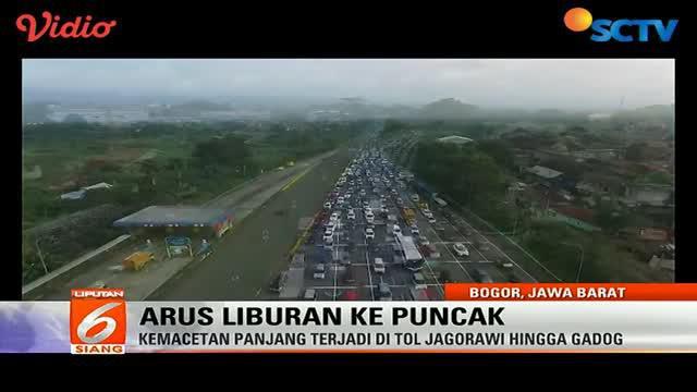Libur panjang, kemacetan panjang terjadi di ruas tol Jagorawi hingga Gadog.