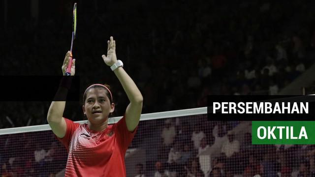 Berita video pebulutangkis Indonesia Oktila persembahkan medali perak dari cabang olahraga bulutangkis melawan Hefang Cheng, Kamis (12/10/2018).