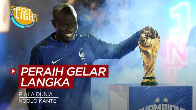 Berita video spotlight kali ini membahas tentang empat pemain yang berhasil memenangkan gelar Liga Champions, Liga Inggris dan Piala Dunia.