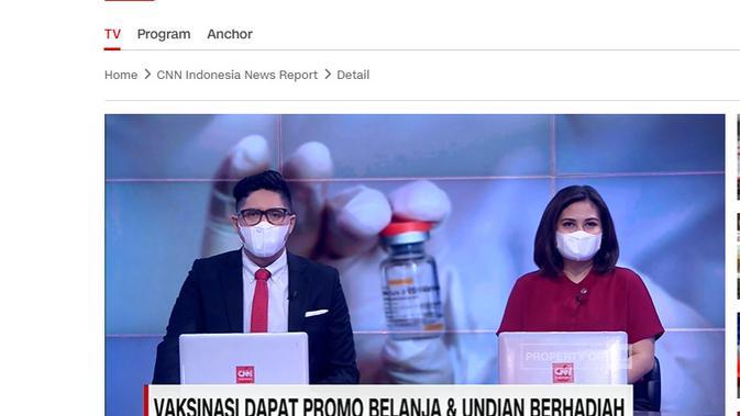 Cek Fakta Liputan6.com menlusuri klaim media tawarkan hadiah untuk vaksinasi