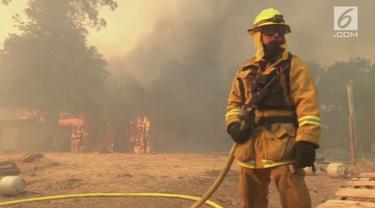 Kebakaran hutan yang melanda California Utara sejak pekan lalu semakin meluas. Sebanyak 14.000 orang telah dievakuasi dan ribuan bangunan lainnya terancam dilalap si jago merah.