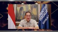 Mendag Muhammad Lutfi di acara seminar e-commerce Indonesia-Filipina. Dok: KBRI Manila