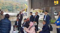 Menteri PUPR  Basuki Hadimuljono mengunjungi Amagase Dam Re-Development Project Tunnel dan Bendungan Yamaguchi, di Jepang. Dok Kementerian PUPR.