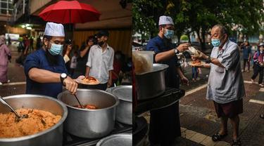 Ustaz dari Malaysia Ini Berikan 300 Makanan Buka Puasa pada Tunawisma, Tuai Pujian