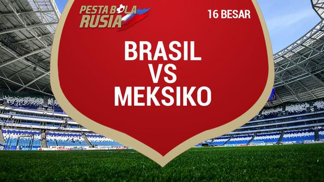 Berita video data dan statistik Brasil saat menaklukkan Meksiko pada 16 Besar Piala Dunia 2018.