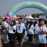 Indonesia Bubble Run Bekasi Pecah Rekor MURI