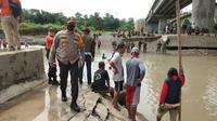 Pencarian korban pembunuhan jenazah dalam karung, Pemalang, Jawa Tengah. (Foto: Liputan6.com/Polres Pemalang)