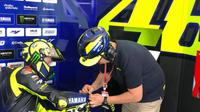 Pembalap Monster Energy Yamaha, Valentino Rossi. (Twitter/Yamaha MotoGP)