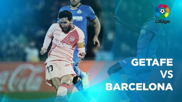 Berita video statiktik Getafe vs Barcelona pada laga pekan ke-18 La Liga 2018-2019, (7/1/2019).