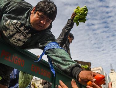 Petani Argentina Bagikan Sayuran Gratis-AFp Photo-20170424