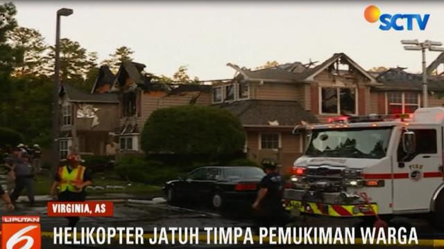 Menurut seorang saksi mata, dirinya mendengar suara keras dan melihat rumah didepannya terbakar