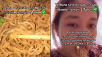 Wanita Ini Tidak Makan Mi Instan Selama 3 Tahun. (Sumber: TikTok/ @shadrinaghei)