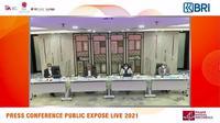 Paparan publik PT Bank Rakyat Indonesia Tbk pada Kamis, (9/9/2021) (Dok: Liputan6.com/Pipit Ramadhani)