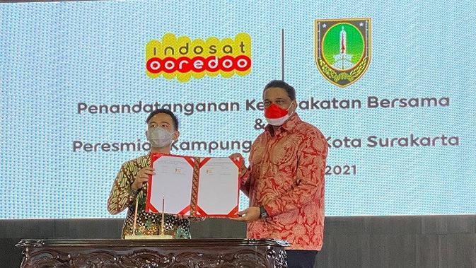 ISAT Lanjutkan Komitmen 5G, Indosat Ooredoo Hadirkan Kampung Digital di Kota Surakarta - Tekno Liputan6.com