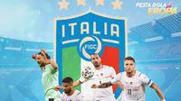 Piala Eropa - Pemain Italia di Final Euro 2021 (Bola.com/Adreanus Titus)