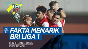 Berita video Time Out kali membahas tentang beragam fakta menarik dari kompetisi BRI Liga 1 2021/2022.
