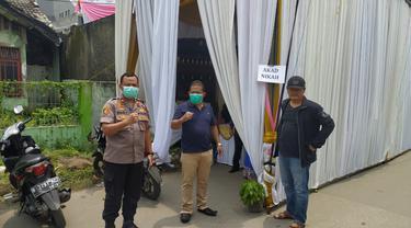 Kapolsek Bekasi Utara Kompol Chalid yang langsung hadir di lokasi acara memantau keamanan dan aturan yang berlaku.