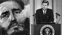 Fidel Castro dan John F. Kennedy (AP)