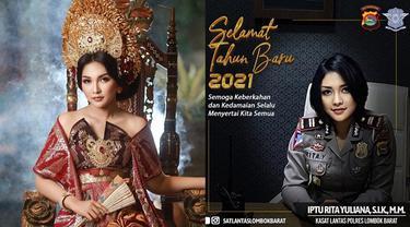 7 Potret Iptu Rita Yuliana, Kasat Lantas Lombok Barat yang Dipuji Bak Model