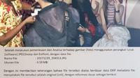 Foto penampakan hantu yang menghebohkan. Foto: Website Polres Probolinggo Kota.