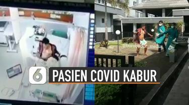 Beredar video seorang pasien Covid-19 mencoba kabur dari rumah sakit hingga mengeluarkan jurus silat ke petugas.