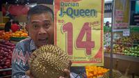 Durian J-Queen dengan harga Rp 14 juta ramai jadi perbincangan publik (Dok.Instagram/@realplazaasiatasik/https://www.instagram.com/p/BtDWcoIH5wh/Komarudin)