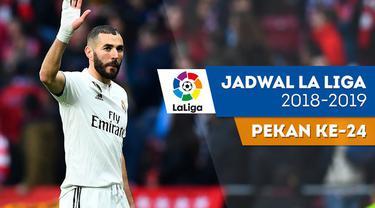 Berita video jadwal La Liga 2018-2019 pekan ke-24. Real Madrid hadapi Girona, Barcelona menjamu Real Valladolid.