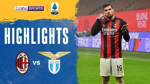 Berita video, AC Milan kalahkan Lazio berkat gol Theo Hernandez di menit akhir