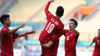 Duel Vietnam vs Pakistan pada laga pertama penyisihan Grup D Asian Games 2018 di Stadion Wibawa Mukti, Cikarang, Selasa (14/8/2018). (Bola.com/Dok. VFF)