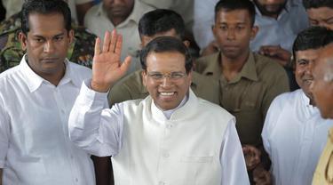 Presiden Sri Lanka Maithripala Sirisena (AP/Erangga Jayawerdana)