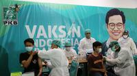Vaksin Indonesia Bangkit dilaksanakan di kantor DPW PKB Jatim. (Foto: Istimewa).
