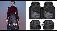 Rok mirip karpet mobil dirancang rumah mode Balenciaga. (odditycentral.com)