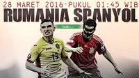 Rumania vs Spanyol (Bola.com/Samsul Hadi)