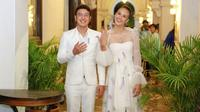 Nadine Chandrawinata akhirnya melabuhkan hatinya pada Dimas Anggara. Mereka menikah di Bhutan pada 5 Mei 2018 lalu dan menggelar resepsi di Lombok dan Jakarta. (Adrian Putra/Bintang.com)