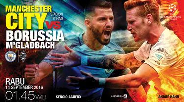Prediksi Manchester City vs  Borussia Mönchengladbach