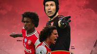 Arsenal - Willian, David Luiz, Petr Cech (Bola.com/Adreanus Titus)