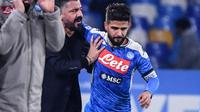 Pelatih Napoli, Gennaro Gattuso. (AFP/Alberto Pizzoli)