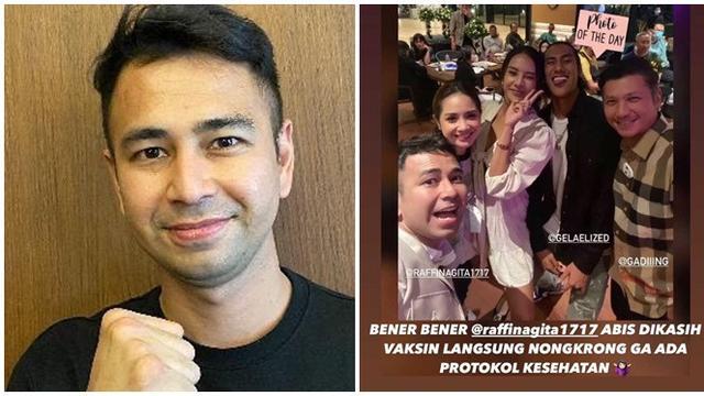 Kumpul di Kafe Usai Divaksin, Raffi Ahmad Tuai Beragam Komentar Netizen