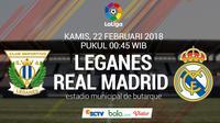 La Liga_Leganes Vs Real Madrid (Bola.com/Adreanus Titus)