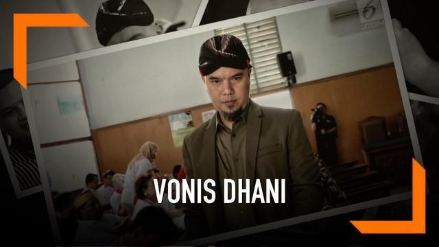 Majelis Hakim PN Surabaya memutuskan Ahmad Dhani bersalah dalam kasus pencemaran nama baik. Ia divonis penjara 1 tahun, atau lebih rendah dari tuntutan jaksa.