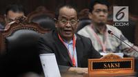 Mantan Sekretaris Kementerian BUMN Said Didu memberikan kesaksian dalam sidang lanjutan sengketa Pilpres 2019 di Mahkamah Konstitusi, Jakarta, Rabu (19/6/2019). Sadi Didu dihadirkan sebagai saksi tim hukum Prabowo-Sandiaga. (merdeka.com/Iqbal Nugroho)