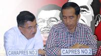 Joko Widodo dan Jusuf Kalla (Liputan6.com/Andri Wiranuari)