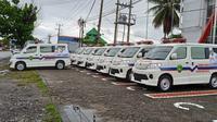 Pemkot Bengkulu menambah 15 unit armada Ambulance Gratis untuk melayani warga. (Liputan6.com/Yuliardi Hardjo)