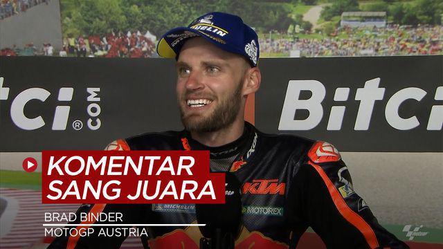 Berita Video Komentar Brad Binder Usai Menangi Balapan MotoGP Austria
