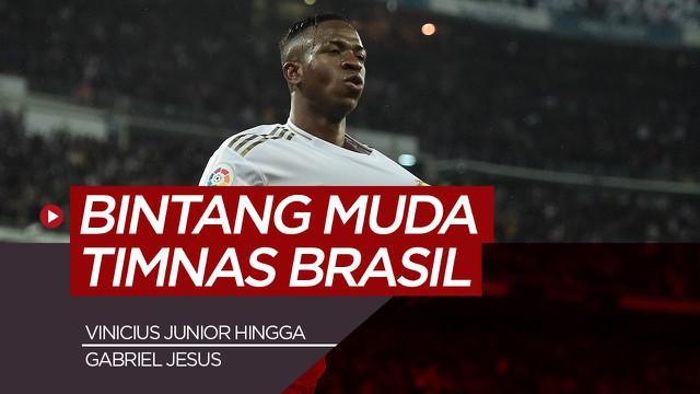 Berita motion grafis 7 bintang muda Timnas Brasil, salah satunya Vinicius Junior.